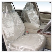 """36"""" x 60"""" 4 Mil Clear Plastic Car Seat Cover (Box of 50)"""