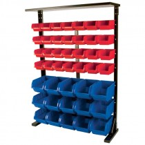 Metal Rack with Plastic Storage Bins