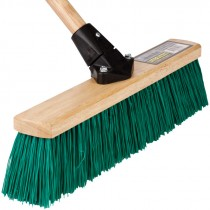 "18"" Stiff Green Flexsweep Broom Head"