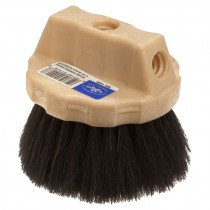 "4-1/2"" Flagged Plastic Round Window Brush"