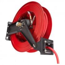 """Dual Arm, Auto Rewind Air Hose Reel w/ Pre-installed 3/8"""" x 50' Air Hose"""