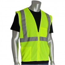 Class 2 Safety Vest - Lime Green Mesh, Large
