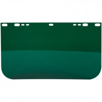 "9"" X 15-1/2"" Dark Green PETG Face Shield, Non-Bound, Flat Base, Universal Fit"