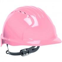 JSP® Hard Hat, Slip Ratchet Suspension, Pink