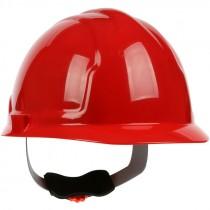 Hard Hat, 4-Point Wheel Ratchet Suspension, Red