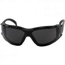 Zenon Z12™ Safety Glasses, Foam Lined, Smoke Lens - Anti-Scratch/Anti-Fog