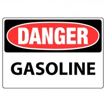 """10"""" x 14"""" Almuinum Danger Gasoline Sign"""