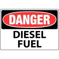 """7"""" x 10"""" Rigid Plastic Danger Diesel Fuel Sign"""