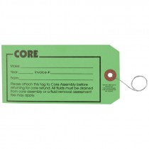 "#7 (5-3/4"" x 2-7/8"") Pre-Wired CORE Card Stock Tag - Green"