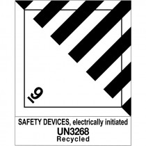 UN 3268 DOT 9 Hazard Label for Airbag Shipping