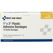 "1"" x 3"" Plastic Bandages 16/Box"