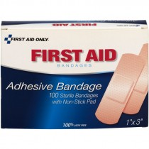 "1"" x 3"" Plastic Bandages 100/Box"