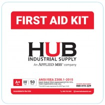 HUB 50 Person ANSI Class A First Aid Kit, Plastic Case