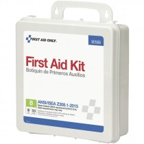 50 Person ANSI Class B First Aid Kit, Plastic Case