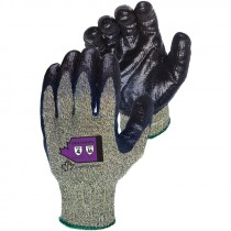 Kevlar®/Wire-Core Glove, Nitrile Coated, Steel-Mesh Palm, Large