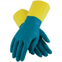 "12"" 28 Mil. Neoprene Over Latex Chemical Glove, Embossed Grip, Flock Lined, X-Large"