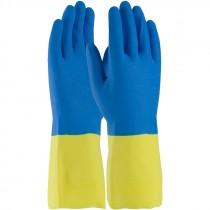 "12"" 19 Mil. Neoprene Over Latex Chemical Glove, Embossed Grip, Flock Lined, Medium"
