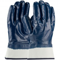 ArmorTuff® Jersey Glove, Safety Cuff, Full Smooth Nitrile Coat, Medium