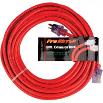12/3 Red Extension Cord w/ Lighted End, 50'