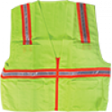 Non-Rated Premium Safety Vest, Solid, Zipper Closure