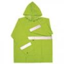 Hi-Vis Green Poly Rain Jacket w/ Reflective Striping