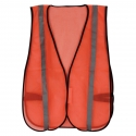 Non-Rated Economy Safety Vest, Mesh, Hook & Loop Closure