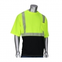 Class 2 Short Sleeve Black Bottom T-Shirt w/ Segmented Striping