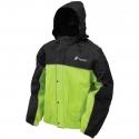 Frogg Toggs® Road-Toad™ Black / Hi-Vis Green Reflective Rain Jacket