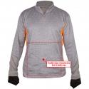 "CutArmour™ Quarter Zip Jacket, 2"" Collar, Mesh Back, Reinforced Front Wear Panel"