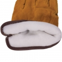 Good Split Cowhide Drivers Glove, White Thermal Lining