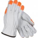 Good Top-Grain Cowhide Drivers Glove, Hi-Vis Fingertips