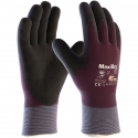 Maxidry® Zero™ Thermal Lined Nylon Glove, Full Coverage Nitrile Coat, Nitrile Foam Grip