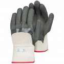 Jersey Glove, Safety Cuff, 3/4 Coverage Latex Coated w/ Nitrile Overdip, A3