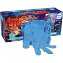15 Mil Blue Textured Grip Latex Glove, Powder Free