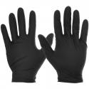 5 Mil Black Textured Grip Nitrile Gloves, Powder Free