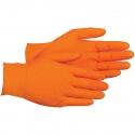 7 Mil Orange Embossed Grip Nitrile Gloves, Powder Free