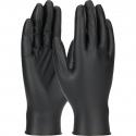 6 Mil Black Embossed Grip Nitrile Gloves, Powder Free