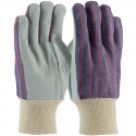 Economy Single Palm Leather Work Glove, Knit Wrist, One-Size