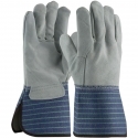 Better Single Palm Leather Work Gloves, Leather Back, Gauntlet Cuff, LG-XL