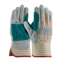 Economy Double Palm Leather Work Gloves, SM-XL