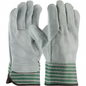 Good Single Palm Leather Work Gloves, Leather Back, One-Size