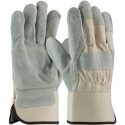 Premium Double Palm Leather Work Glove, Kevlar® Stitching, LG