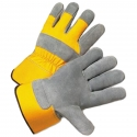 Best Single Palm Leather Work Gloves, Yellow-Back, LG-3X