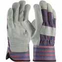 Economy Single Palm Leather Work Gloves, SM-XL