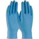 8 Mil Blue Textured Grip Nitrile Gloves, Powdered