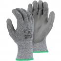 Gray Annihilator® Glove, PU Coated Palm, A3