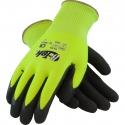 Hi-Vis PolyKor® Glove, Nitrile Microsurface Grip, A3