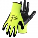 HI-VIS YELLOW POLYESTER W/NITRILE PALM