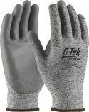Gray PolyKor® Glove, PU Coated Palm, A2