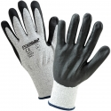 Gray HPPE Glove, Black PU Coated Palm, A4